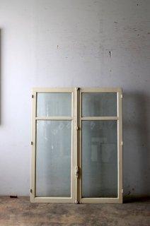 フレンチガラス窓 ペアガラス入り クレモン錠付