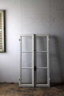 アンティーク ガラス窓  クレモン錠付