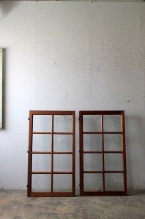 アンティーク 格子ガラス窓 シングル2枚セット