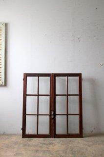 アンティーク 格子ガラス窓