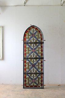 アンティーク 教会のステンドグラス窓