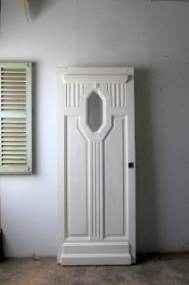 小窓のあるアンティーク ガラスドア