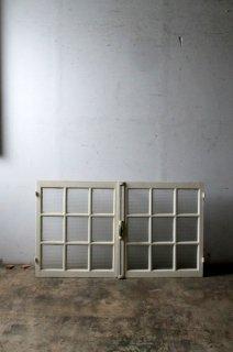 アンティーク 格子ガラス窓 チェッカーガラス