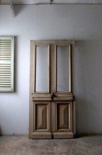 アンティーク 無塗装 ガラスドア