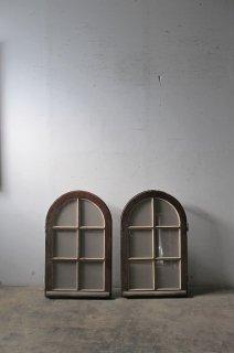 アーチガラス窓 小窓付き 2枚セット