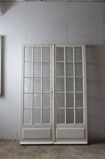 アンティーク 観音開きガラスドア