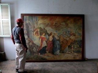 大型キャンバス200号 模写絵画