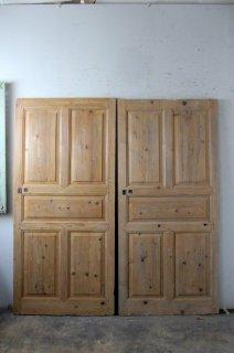 無塗装パネルドア 同型2枚セット