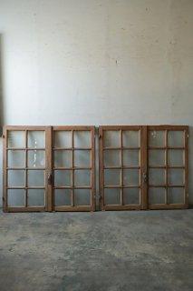 無塗装 フレンチ格子ガラス窓 2ペアセット