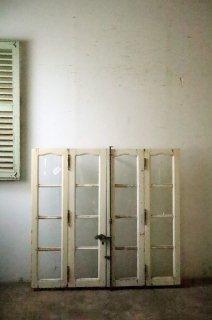アンティークガラス窓 4枚組み