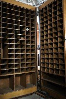 アンティーク フランス郵便局の仕分け棚 特大サイズ