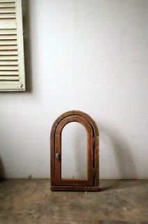 アーチガラス窓 木枠付