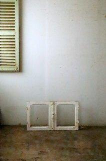 アンティーク クレモン錠ガラス窓