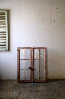 無塗装フレンチガラス窓
