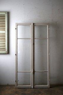 アンティーク 観音開き ガラス窓