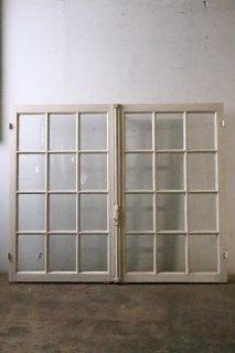 アンティーク ガラス窓