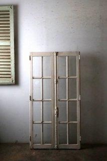 アンティーク ガラス窓 クレモン錠付属