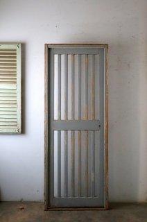 木枠付き アンティーク 格子ドア