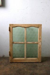 アンティーク ライトグリーンガラス窓 シングル