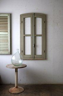 フレンチアーチガラス窓 木枠付
