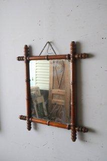 アンティーク バンブーミラー 鏡