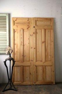 ヴィンテージ無塗装観音開きドア