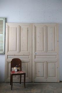 オールドパイン 無塗装観音開きドア