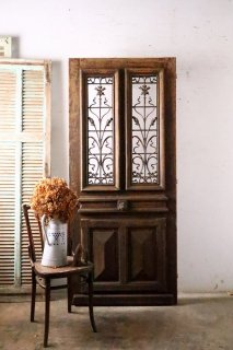 フランスアンティーク アイアン飾り玄関ドア