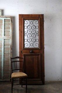 木目が美しい フランス飾り 玄関ドア 木枠完成品付 外開き