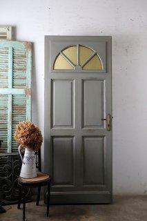 イエロー型ガラスのドア ドアノブ・キー付き