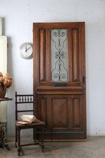 アンティークアイアン飾り玄関ドア 小窓付