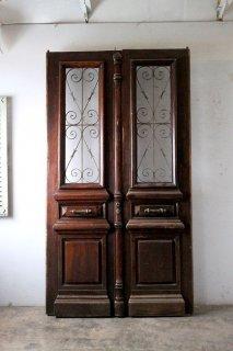 アンティーク 特大 観音開き玄関ドア