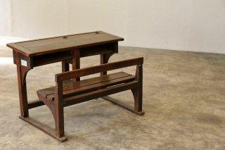 木製スクールデスク・チェア 一体型