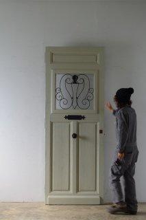 antique door with ironworks / アイアン小さ目ポスト付ドア フランスアンティーク