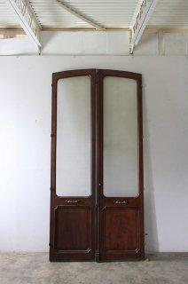 アーチヴィンテージガラス戸ペア