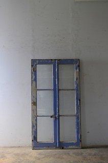 フレンチウインドウ アンティーク窓 木枠付き