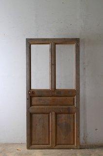 アンティーク無塗装ガラス室内ドア