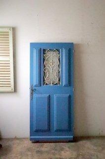 鉄枠付 アンティーク アイアン飾り玄関ドア 外開き仕様