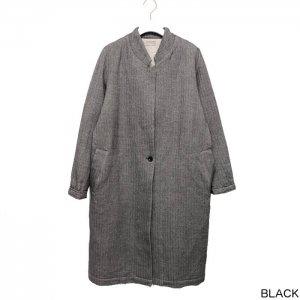AUGUSTE-PRESENTATION pajama look オーギュストプレゼンテーション ウール/綿 2重織 スタンドカラーコート WAUPJAW001