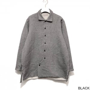 AUGUSTE-PRESENTATION pajama look オーギュストプレゼンテーション ウール/綿 2重織 レギュラーカラーシャツ WAUPJAW004