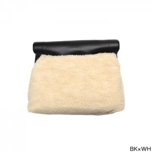 ED ROBERT JUDSON エドロバートジャドソン SMOOTH LEATHER×WOOL BOA  TOTE&CLUTCH BAG ムートントートクラッチバッグ B01JBG-02F