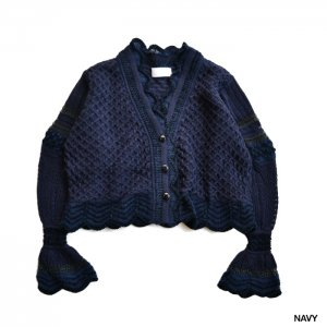 Mame Kurogouchi マメ クロゴウチ Lace Knitting Cardigan