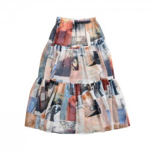 <img class='new_mark_img1' src='https://img.shop-pro.jp/img/new/icons1.gif' style='border:none;display:inline;margin:0px;padding:0px;width:auto;' />PHEENY フィーニー Print chiffon tiered skirt プリントティアードスカート PA20-SK01
