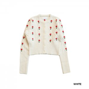 <img class='new_mark_img1' src='https://img.shop-pro.jp/img/new/icons1.gif' style='border:none;display:inline;margin:0px;padding:0px;width:auto;' />HOLIDAY ホリデイ FLOWER KNIT CARDIGAN フラワーニットカーディガン20204435