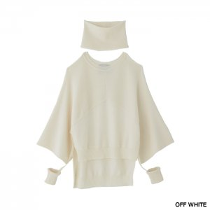 <img class='new_mark_img1' src='https://img.shop-pro.jp/img/new/icons1.gif' style='border:none;display:inline;margin:0px;padding:0px;width:auto;' />TAN タン FINE WOOL TOPS ATTACHED WRISTBAND & NECKWARMER ウールトップス 21AW-4