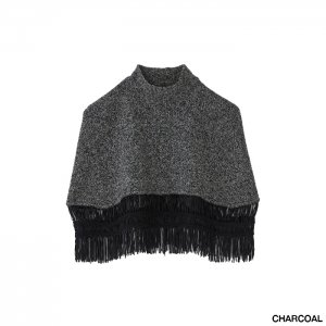 <img class='new_mark_img1' src='https://img.shop-pro.jp/img/new/icons1.gif' style='border:none;display:inline;margin:0px;padding:0px;width:auto;' />TAN タン TAPE FRINGE SQUARE PONCHO タープスクエアフリンジポンチョ 21AW-20
