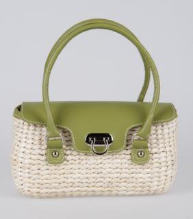 Tatyana USA BRAID PURSE グリーン