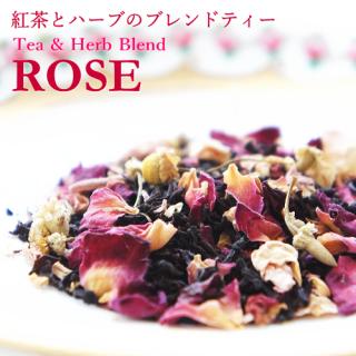 Tea & Herb Blend ローズ 40g 袋入り =紅茶とハーブのブレンドティー 当店オリジナルブレンド=