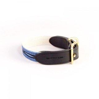 Braveheart Leather Collar, Lake Blue & Black (ブレイブハート・レザーカラー, レイクブルー & ブラック)