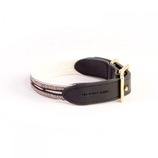 <img class='new_mark_img1' src='https://img.shop-pro.jp/img/new/icons57.gif' style='border:none;display:inline;margin:0px;padding:0px;width:auto;' />Braveheart Leather Collar, Cream & Black (ブレイブハート・レザーカラー, クリーム & ブラック)